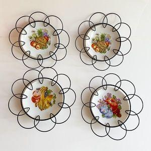 Vintage Decorative Fruit Plates & Plate Hangers